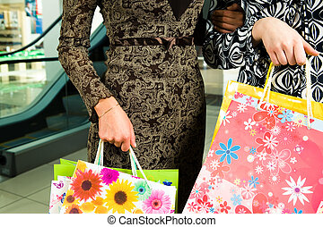 In the trade centre - Close-up of women wearing smart ...