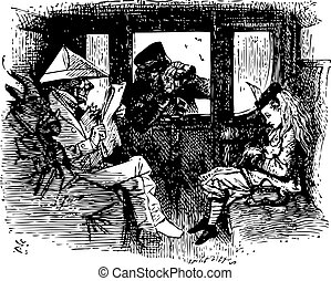 In the Train - Through the Looking Glass and what Alice...