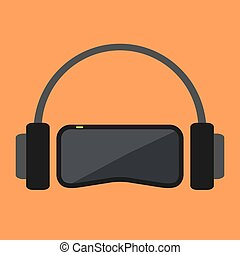 In the virtual world - Virtual space equipment. VR-glasses...