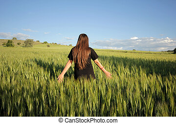 In the wheat field