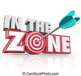 In the Zone 3d Words Arrow Target Winning Streak