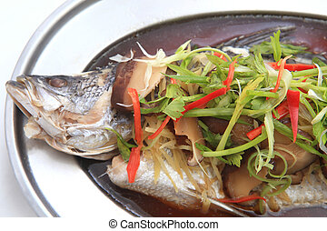 in umido, luce, fish, tubtim, salsa soia