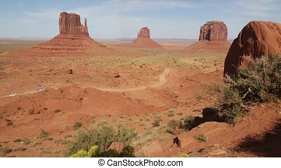 in USA inside the monument valley park the beauty of amazing...