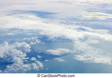 In view of clouds from an airplane