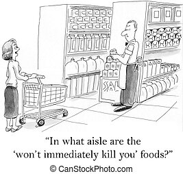 """In what aisle are the won't kill you foods - """"In what aisle..."""