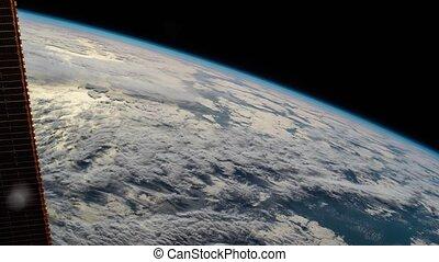 in1., éléments, vidéos, meublé, ceci, iss., nasa., planète, 2, vidéo, vu, la terre