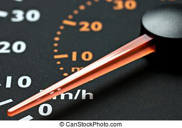 speedometer - inactive speedometer of a truck