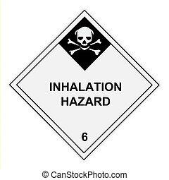 inademing, gevaar, waarschuwingsetiket