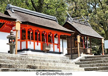 Fushimi Inari Taisha shrine in Kyoto prefecture of Japan. Famous shinto shrine.