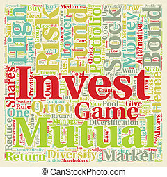 inbördes, begrepp, text, investering, fond, wordcloud, bakgrund, portfölj, alternativ, din