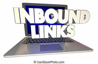 Inbound Links Computer Laptop Referral Online Website 3d Illustration
