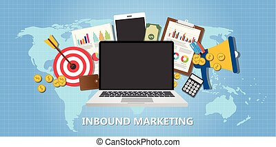 inbound marketing concept with graph data goals