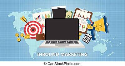 inbound marketing concept with graph data goals