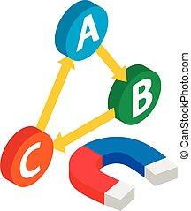 Inbound marketing icon, isometric style - Inbound marketing ...