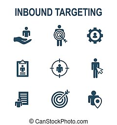Inbound Marketing Icons with targeting imagery to show ...