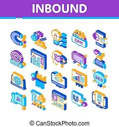 Inbound Marketing Isometric Icons Set Vector - Inbound ...