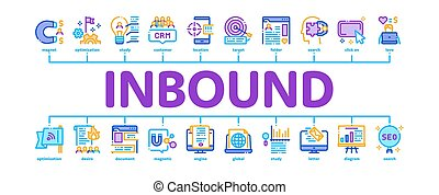 Inbound Marketing Minimal Infographic Banner Vector - ...