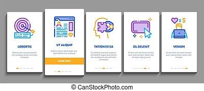 Inbound Marketing Onboarding Elements Icons Set Vector - ...