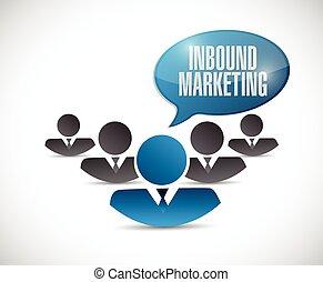 inbound marketing people illustration design over a white ...