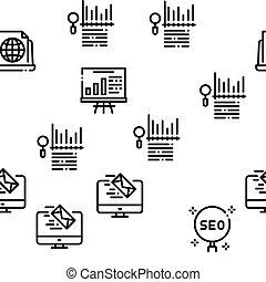Inbound Marketing Seamless Pattern Vector Thin Line. ...