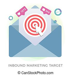 Inbound Marketing Target Concept. Advertisement Strategy ...