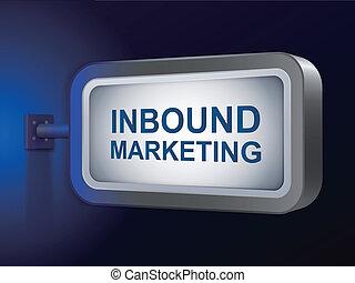 inbound marketing words on billboard