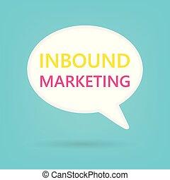 inbound marketing written on speech bubble