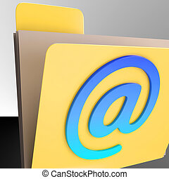 inbox, archivo, en línea, carpeta, envío, email, ...