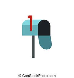 Inbox icon, flat style