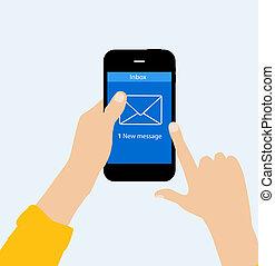 Inbox Mail Flat Concept Vector Illustration