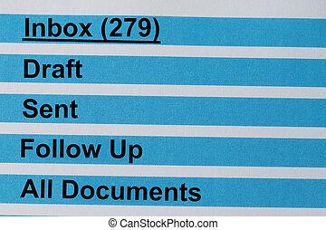 inbox, mensajes