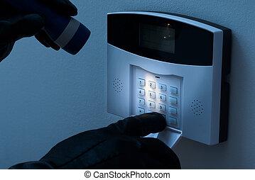inbrudstyv alarmer, afmontere, system, garanti, forsøg