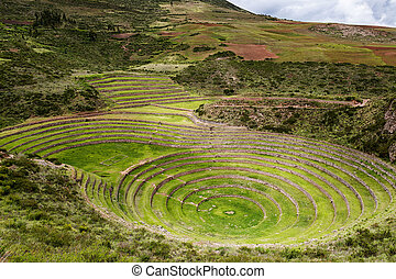 Inca circular terraces in Moray