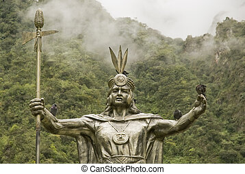 Inca God by Machu Picchu