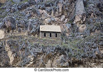 inca, ollantaytambo, ruinas
