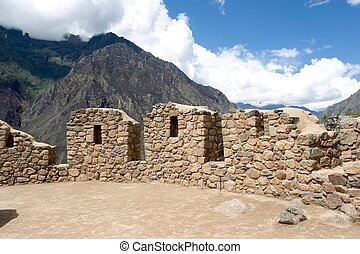 Inca Trail - Capaq Nan trail, which leads from the village...