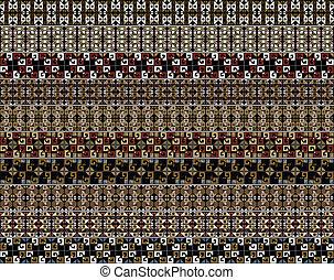 inca, vector, pattern., illustratie