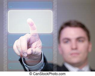 incandescent, 2, -, bouton, homme