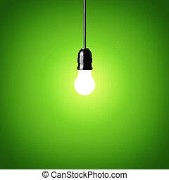incandescent, ampoule, lumière