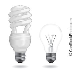 Incandescent and fluorescent light bulbs - Incandescent and ...