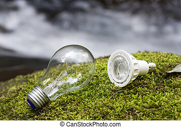 Incandescent and LED