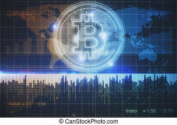 incandescent, bitcoin, fond