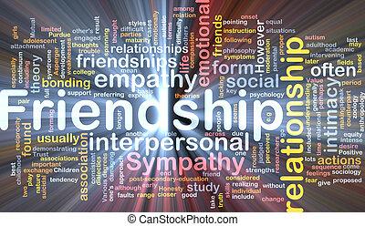 incandescent, concept, amitié, fond
