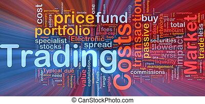 incandescent, concept, commerce, fond, coûts