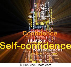 incandescent, concept, confiance soi, os, fond