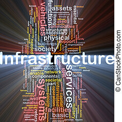 incandescent, concept, fond, infrastructure