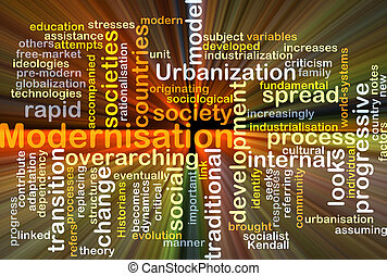 incandescent, concept, modernisation, fond