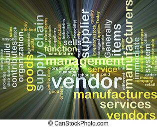 incandescent, concept, vendeur, fond