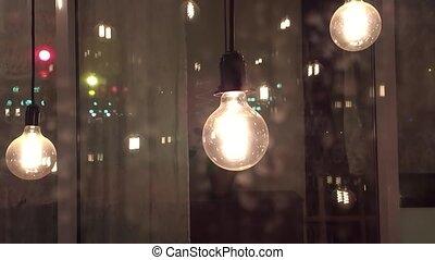 incandescent idea science thought filament lamps. vintage...