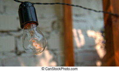 Incandescent lamp in the decoration.